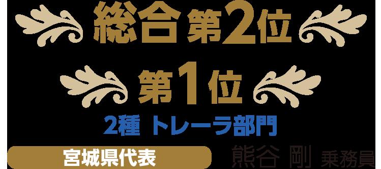 第1位 2種 トレーラ部門 宮城県代表 熊谷 剛 乗務員